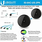 Ubiquiti Networks IS-5AC-US 5GHz 802.11ac IsoStation CPE 14dBi Radio Isolation AntennaUS (2 Pack)