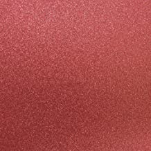 Best Creation 12-Inch by 12-Inch Glitter Cardstock, French Red, 15 Per Pack