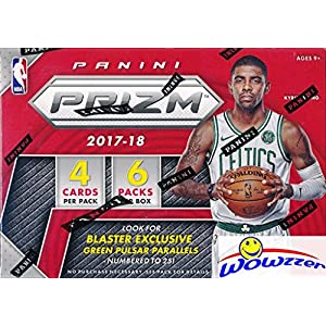 2017/18 Panini PRIZM NBA Basketball EXCLUSIVE Factory Sealed Retail Box with AUTOGRAPH or MEMORABILIA Card! Look for Rookies & Autographs of Jayson Tatum, Lonzo Ball, Kyle Kuzma & Many More! WOWZZER!