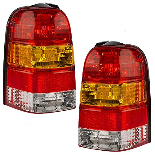 Driver and Passenger Taillights Tail Lamps Replacement for Ford SUV 6L8Z13405DA 6L8Z13404DA AutoAndArt