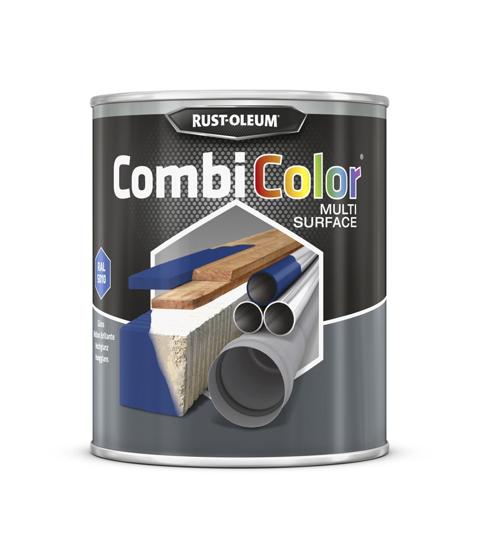 RUST-OLEUM 7326MS.0.75 Combicolor Multi-Surface, One Paint, Many Surfaces, Gentian blue-RAL 5010