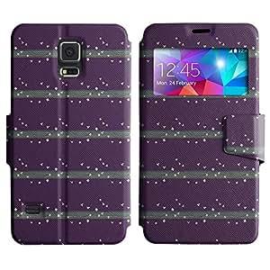 LEOCASE pequeña mariposa Funda Carcasa Cuero Tapa Case Para Samsung Galaxy S5 I9600 No.1003700
