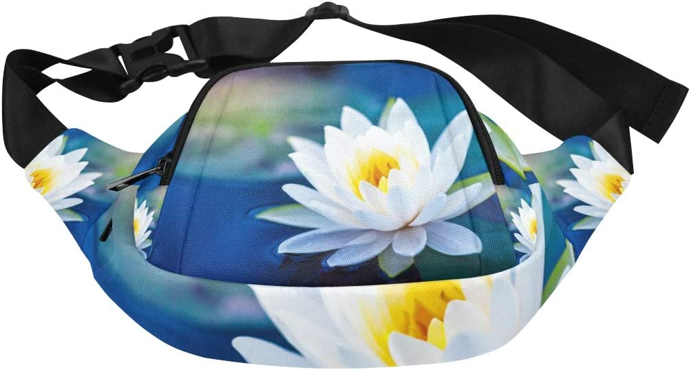 Beautiful White Daffodil Flower Fenny Packs Waist Bags Adjustable Belt Waterproof Nylon Travel Running Sport Vacation Party For Men Women Boys Girls Kids