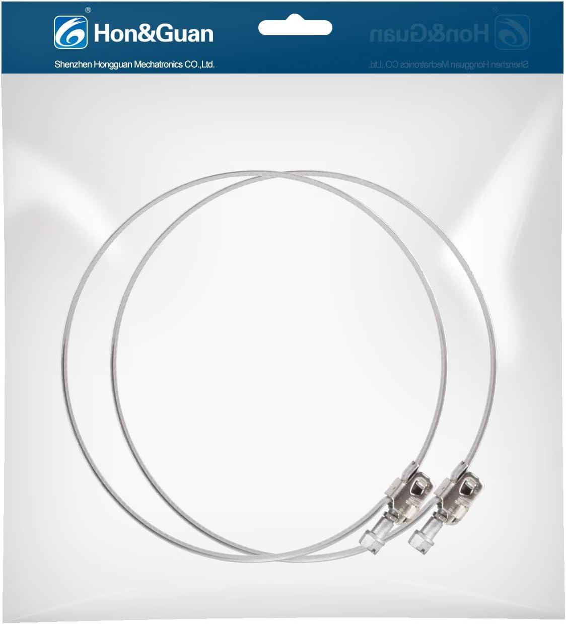 Hon&Guan Abrazadera Manguera Ajustable de Acero Inoxidable para Tubo, Ventilador Extractor de Aire - 2 piezas (125mm): Amazon.es: Hogar