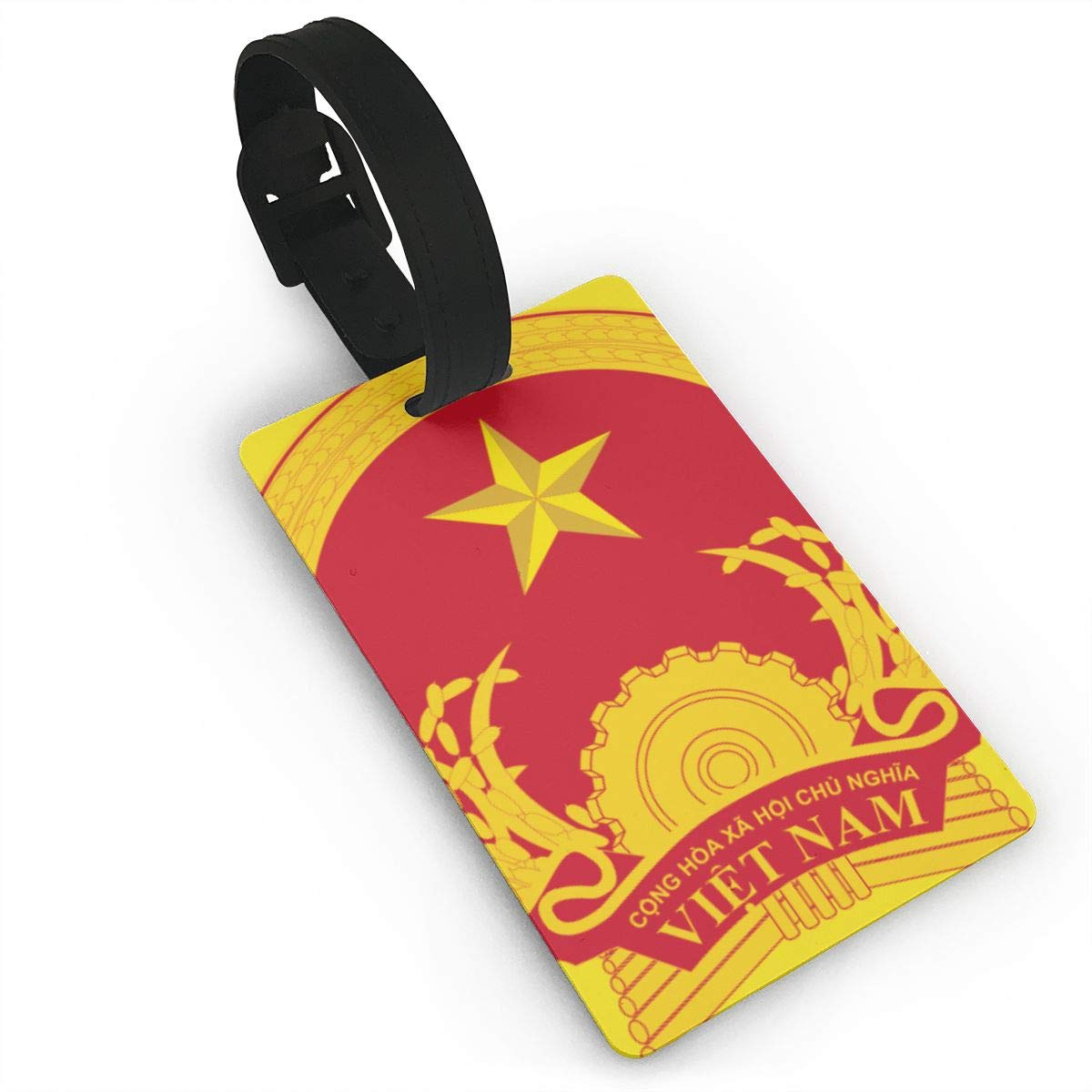 KODW12 Coat of Arms of Vietnam Luggage Tag Travel Bag Labels Suitcase Bag Tag Name Address Cards
