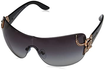 c4bc03dd81 Image Unavailable. Image not available for. Color  Bvlgari Women s BV6079B Sunglasses  Pink Gold Grey Gradient 33mm