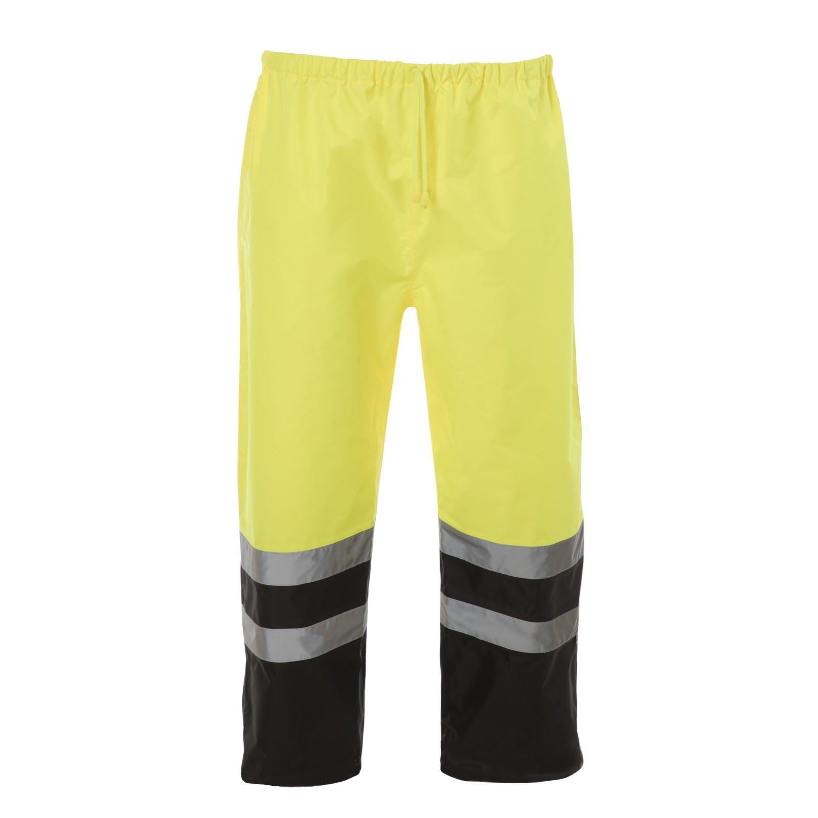 JORESTECH Light Weight Waterproof Rain Pants ANSI/ISEA 107-2015 Class 3 Level 2 Black and Yellow (3X-Large) by JORESTECH (Image #1)