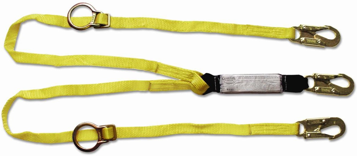 Guardian Fall Protection 01291 6-Foot Double Leg Tie-Back Lanyard with Adjustable D-Ring