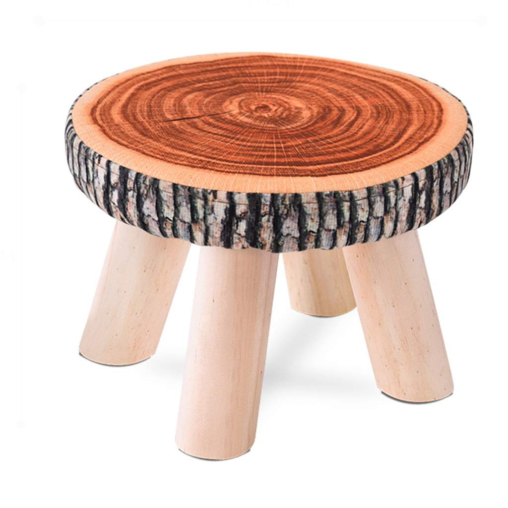Stool - Shoe Bench, Living Room Solid Wood Sofa Bench, Home Fabric Children's Stool/Small Stool