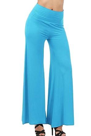 Pingrog Pantalon Palazzo Mujer Elastische Taille Cómodo ...