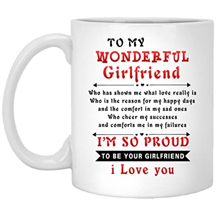 Amazoncom To My Girlfriend Quote Ceramic Gift Coffee From