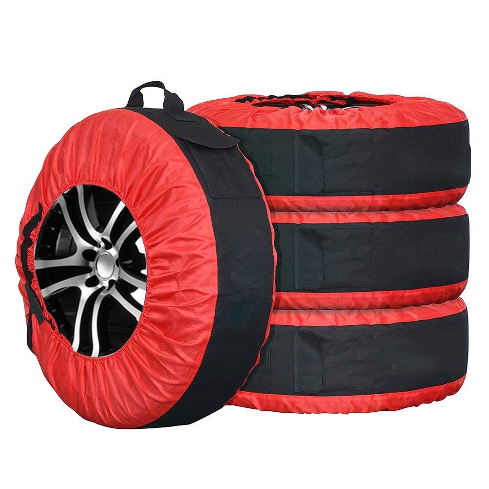 BRL Haute Qualité Housses de Pneus Protection Rangement Pneu Stockage Sacs pour Roue de Secours pour Voiture SUV 77CM Diamètre Lot de 4