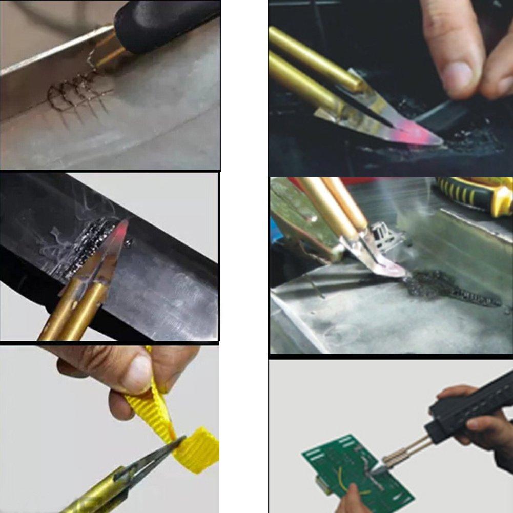 BELEY Equipo de Soldador de Plástico para Reparación de Parachoques de Automóviles, Grapadora de Caliente 220V Máquina de Pistola de Soldadura Plástica con ...