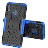 Bracevor Shockproof Hybrid Kickstand Back Case Defender Cover Honor 8X - Blue