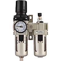 Regulador de Aire Comprimido, Haofy 3/8'' Regulador del Filtro de Aire, Separador de Agua y Aceite , Reductor de Presión…
