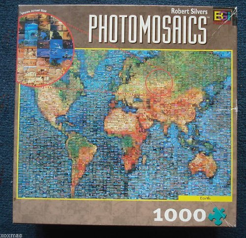 Robert Silvers Photomosaics 1000 Piece Jigsaw Puzzle - Earth