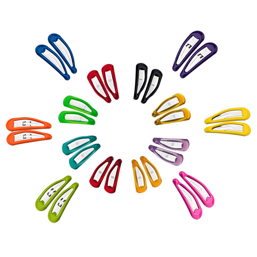 Snap Hair Clips 28pcs Baby Little Girls Toddlers Kids Hair Clips, Barrettes Hairpins Set 12 Colors Assorted (0.8'' 16pcs &1.3'' 12pcs)