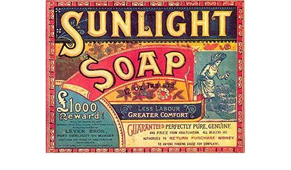 Luz solar jabón Retro estilo Shabby Chic Vintage enmarcado ...
