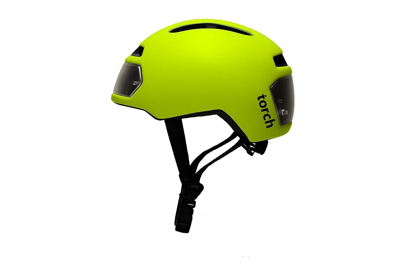 TORCH APPAREL T2 Bike Helmet Front Rear LED Lights Black 23