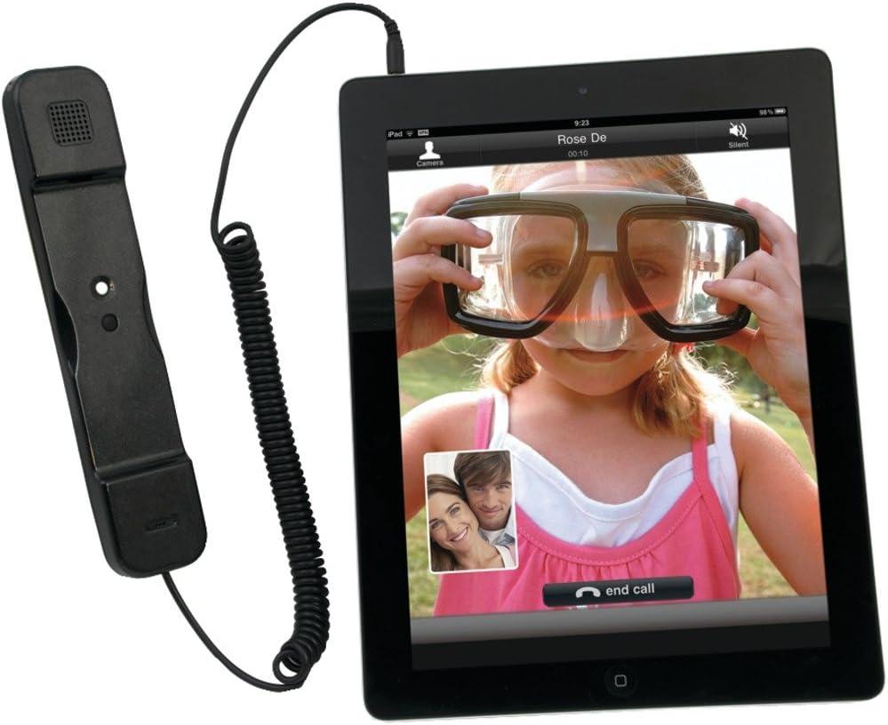 CTA Digital iPad and iPhone 4/4S Radiation-Safe Telephone handset, Black (PAD-RSTB)