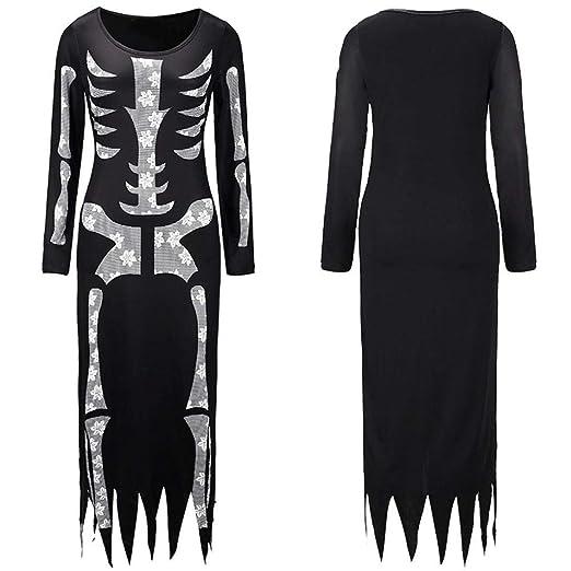 BaZhaHei de Halloween, Mujer Traje de Esqueleto de Las Mujeres del Fantasma del Festival de Las Mujeres de Halloween del Halloween Horror Skeleton Leotard ...
