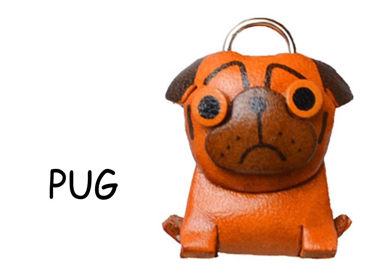 MOPS Leder Hund Charm Lesezeichen Vanca handgefertigt in Japan...