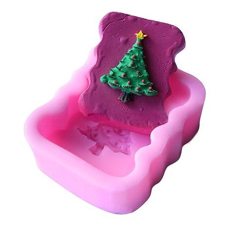 WYD de árbol de Navidad molde de silicona decoración de ...