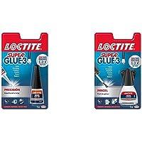 Loctite Super Glue-3 Precisión, pegamento transparente de máxima precisión, pegamento instantáneo triple resistente…
