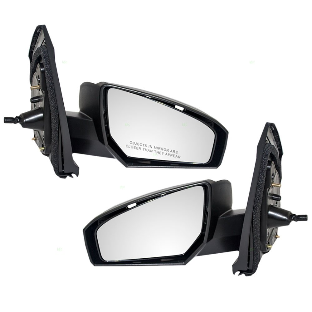 Driver and Passenger Manual Remote Side View Mirrors Replacement for Nissan 96302-ET00E 96301-ET00E