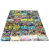 100 Cards TCG Style Card Holo EX Full Art,60 EX Cards, 20 Mega EX Cards, 20 GX Cards 1 Energy Card (A)