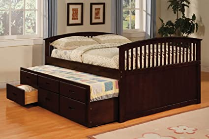 Twin Size Bed W Trundle 3 Drawers