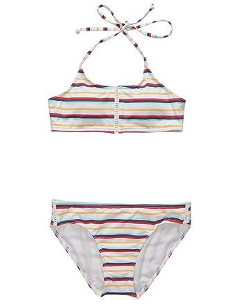 9fe8c93d79 Image Unavailable. Image not available for. Color  Full Tilt Stripe Girls  Bikini Set ...