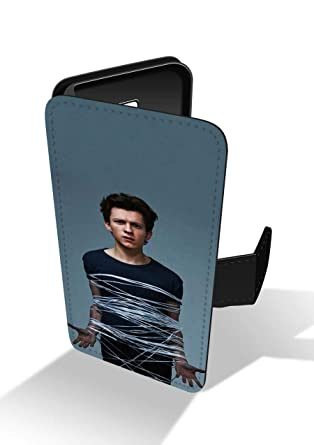 uk availability 4fb59 06f25 Tom Holland British Actor Spider Man Funny Faux Leather Phone Case for  iPhone 5 & iPhone 5s