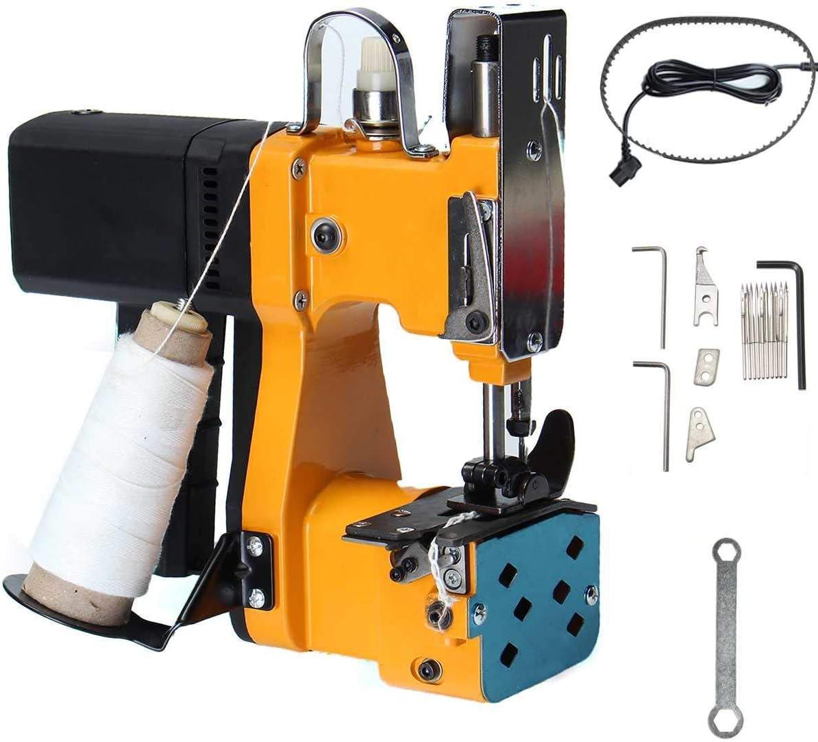 Portátil Máquina de coser eléctrica máquinas de sellado Kit de Inicio Industrial Textil Bolsa portátil Más cerca de la máquina de costura, 220V, Amarillo SluoYiS (Size : Yellow)