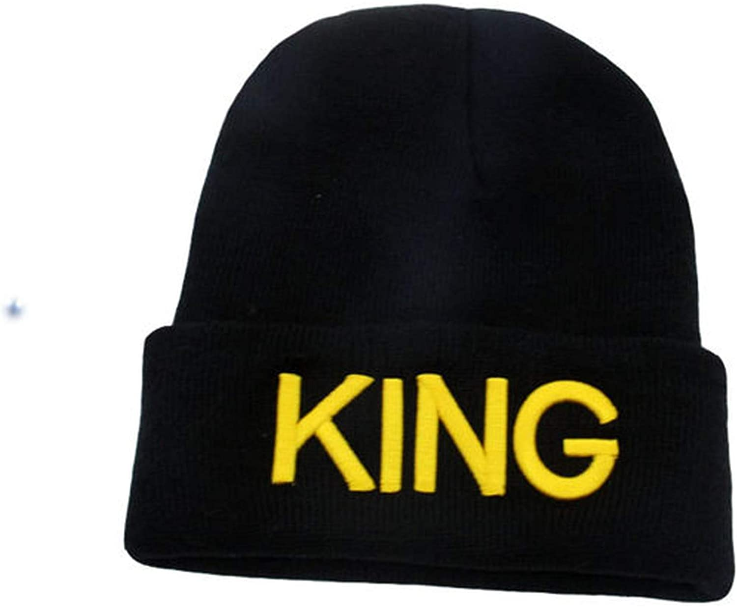 Letter King Queen Beanie Crown Cap Knitting Beanies Skullies Knitted Hiphop Hat Couples Lovers Winter Hats