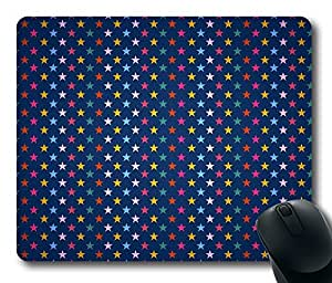 Mouse Pad Stars Colorful Background Desktop Laptop Mousepads Comfortable Office Mouse Pad Mat Cute Gaming Mouse Pad