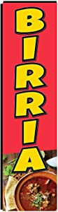 Birria Mexican Restaurant Rectangle Feather Banner Swooper Flag, 3x12ft Replacement Square Flag Only