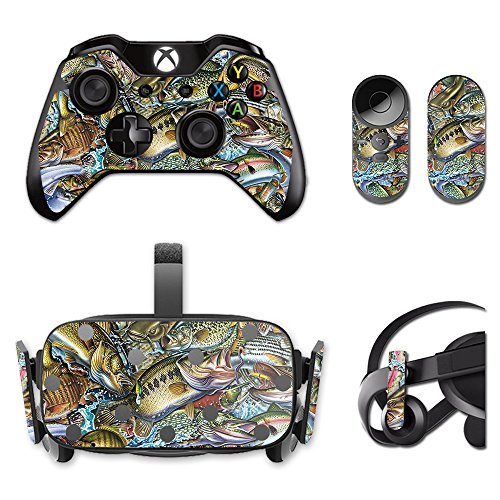MightySkins Skin for Oculus Rift CV1 – Action Fish Puzzle   Protective, Durable, and Unique Vinyl Decal wrap Cover   Easy to Apply, Remove, and Change Styles   Made in The USA