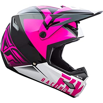 Fly Racing Casco Mx Niño 2019 Elite Vigilant Matte Negro-Hi-Vis (L