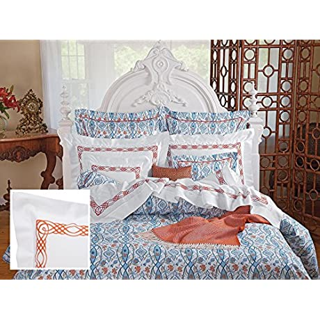 Arezzo Luxury Bedding Sheet Sets Twin 100 Egyptian Cotton Sateen 1 Flat 1 Fitted 1 Std Sham Terracotta