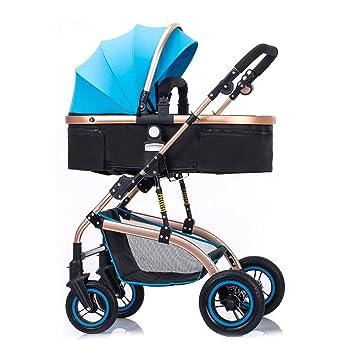 SJZC Cochecito Ligero Plegable Calidad Reclinable Multifuncional Bebe Carro CóModo,Blue: Amazon.es: Deportes y aire libre