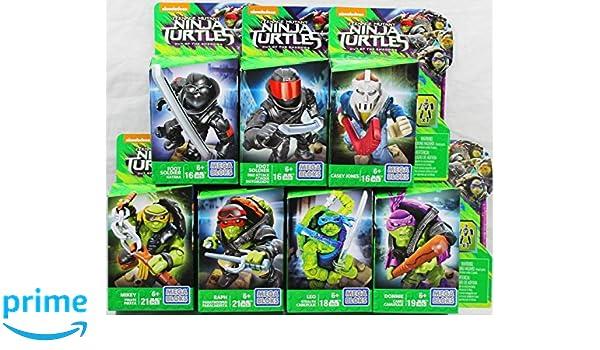 Amazon.com: Set of 7: Mega Bloks Teenange Mutant Ninja ...
