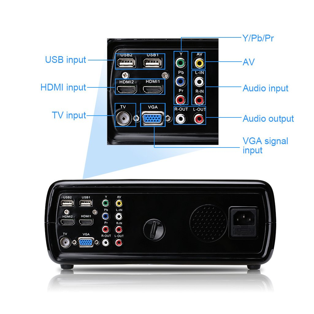 Excelvan BL-23 Pro Proyector LED Home Cinema 2600 Lúmenes (WIFI ...