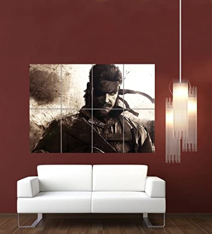 METAL GEAR SOLID SNAKE GIANT WALL ART POSTER PRINT G606