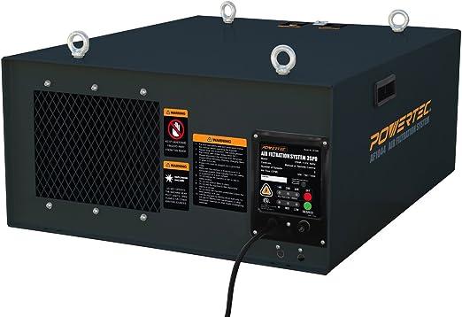 Powertec AF1044 - Sistema de filtración de aire de 3 velocidades ...