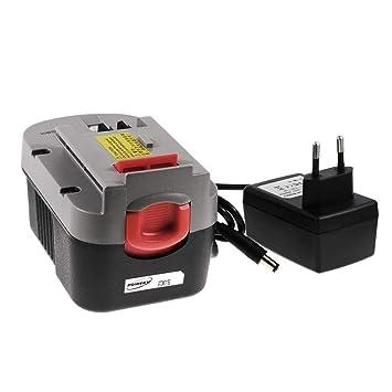 Batería para Herramienta Black & Decker Modelo A1714 Li-Ion incl. Cargador, 14,4V, Li-Ion