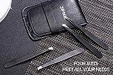JPNK 4 Pack Stainless Steel Slant Tweezer Set and