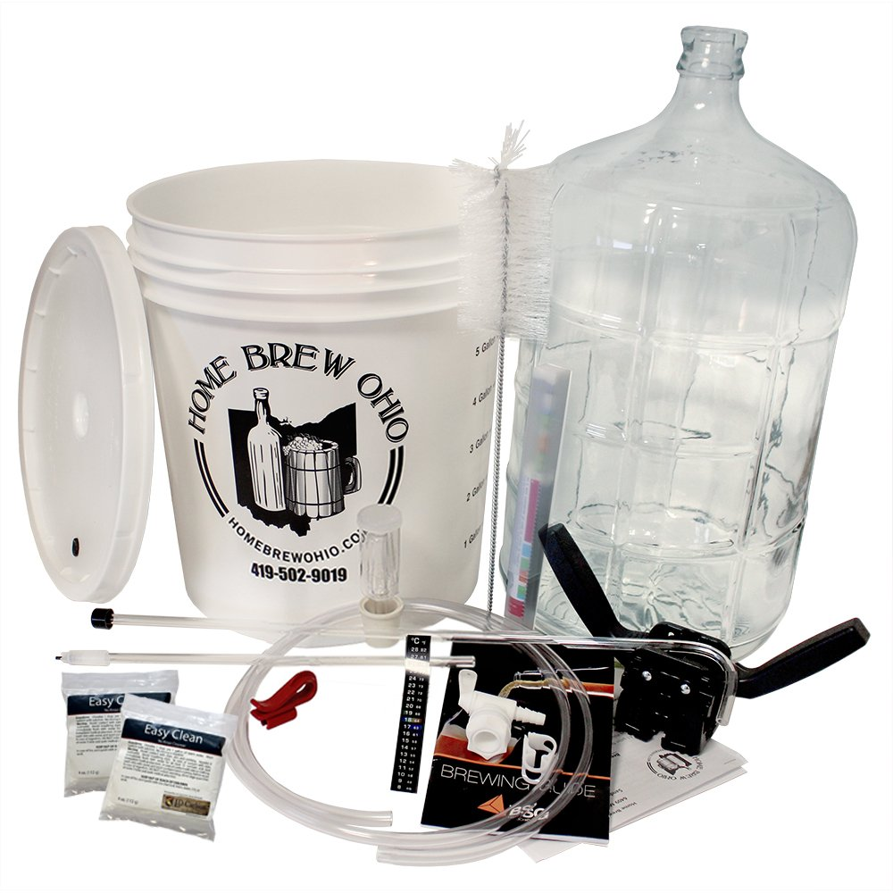 Gold Complete Beer Equipment Kit (K6) with 6 Gallon Glass Carboy, Garden, Lawn, Maintenance by Garden-Outdoor (Image #2)