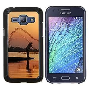 For Samsung Galaxy J1 J100 Case , Puesta de sol Mar Beautiful Nature 21- Diseño Patrón Teléfono Caso Cubierta Case Bumper Duro Protección Case Cover Funda