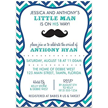 Amazon baby shower invitations little man mustache bowtie baby shower invitations little man mustache bowtie boy chevron stripes filmwisefo